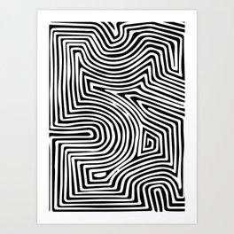 Minimal Line Tropical Art Print