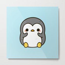 Shy penguin Metal Print