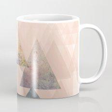 Pastel Abstract Textured Triangle Design Mug