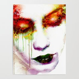 Melancholy in watercolor Poster