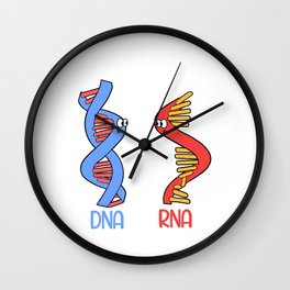 """Science Shirt For Scientists Saying """"Still Single? DNA Always RNA"""" T-shirt Design Partner Couple  Wall Clock"""