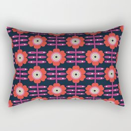 Shick - floral retro vintage flowers 70s style 1970's pop florals Rectangular Pillow