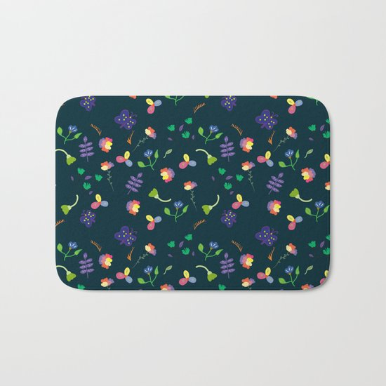 Spring Floral Pattern II Bath Mat