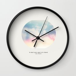 To Travel Wall Clock