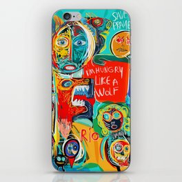 I'm hungry like a wolf Street Art Graffiti iPhone Skin