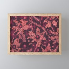 Coral flowers Framed Mini Art Print
