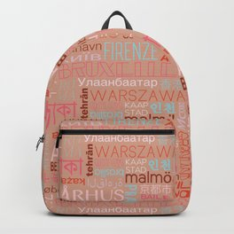 Text and the City Multi Retro + Buff Backpack