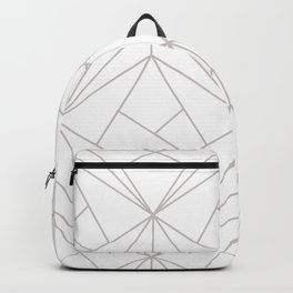 Minimal White & Light Gray Geometric Backpack