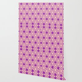Abstract pink-purple snow pattern Wallpaper