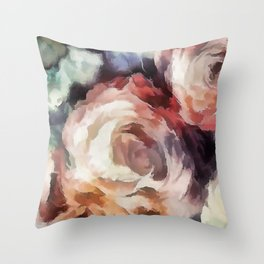 Roses of autumn. Throw Pillow