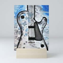 Guitar Art. Abstract Guitar. Rock and Roll. Gibson Guitar. Mini Art Print