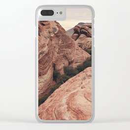Desert mountain Clear iPhone Case