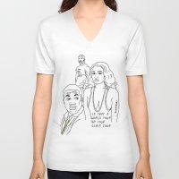 nicki V-neck T-shirts featuring World tour by sosvart
