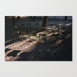 Paris, Chairs in the Tuileries Garden Canvas Print