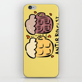 anti racist beer cerveza antiracista for punk skinhead black and white people  iPhone Skin