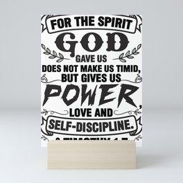 2 Timothy 1:7 Mini Art Print