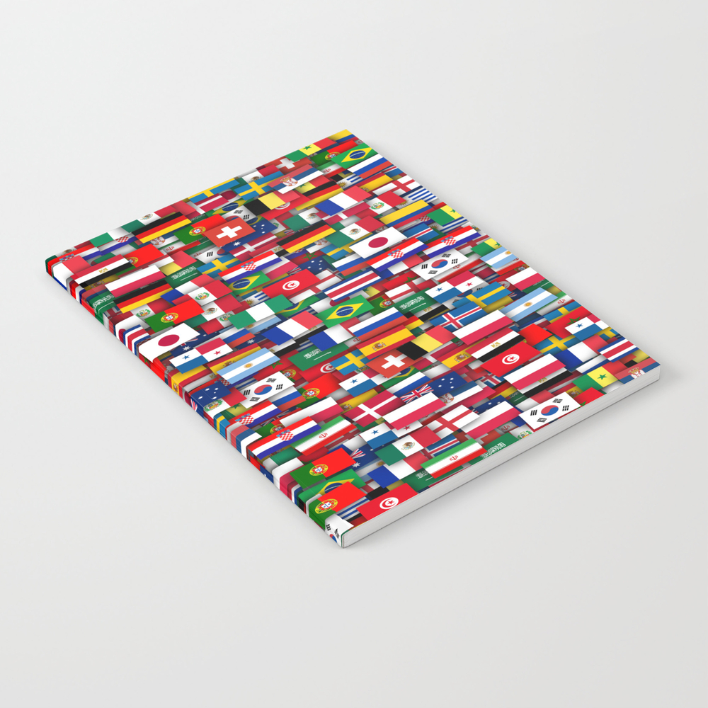 Football World Cup 2018. Flags Of All Teams Notebook by Dima_v NBK8894321