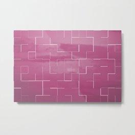 Labyrinth pink Metal Print