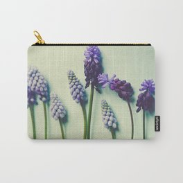 Pretty Blue Flowers Carry-All Pouch