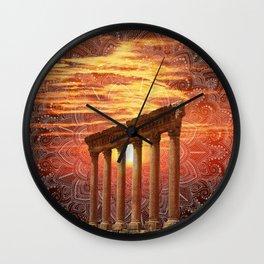Baalbek Sunset Wall Clock