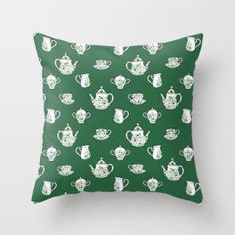 Irish Tea Party Throw Pillow