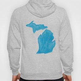 Watercolor Michigan Hoody