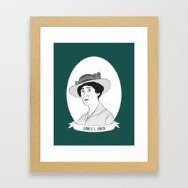 Jeannette Rankin Illustrated Portrait Framed Art Print
