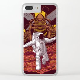 Killer bees on Mars. Clear iPhone Case