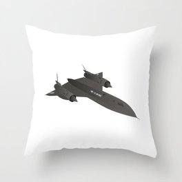 SR-71 Blackbird Reconnaissance Aircraft Throw Pillow