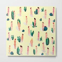 cactus and girls Metal Print