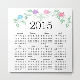 2015 Calendar Metal Print