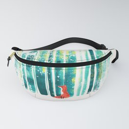 Fox in quiet forest Fanny Pack