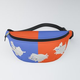 flying pigs red blue Fanny Pack