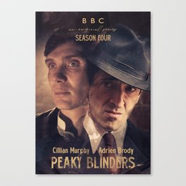 Peaky Blinders poster, Cillian Murphy is Thomas Shelby, Adrien Brody is Luca Changretta Canvas Print