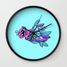 Jellyfish Bubbles Wall Clock