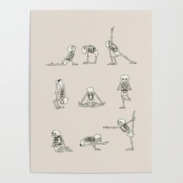 Skeleton Yoga Poster
