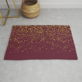 Golden Flakes (Pantone rumba red) Rug