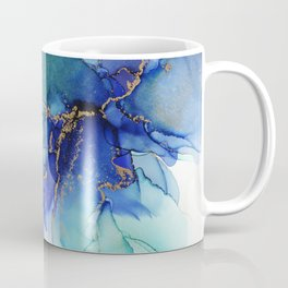Electric Waves Violet Turquoise - Part 2 Coffee Mug