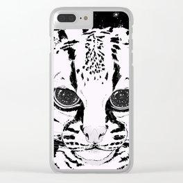 Leopardus Pardalis Clear iPhone Case
