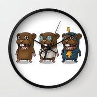 hero Wall Clocks featuring Hero by Torakiki