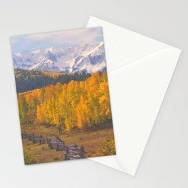 Aspen, San Juan Mountains from Dallas Divide, Colorado Stationery Cards