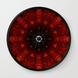 Festive Window Mandala Abstract Design Wall Clock