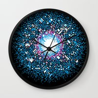 gaming Wall Clocks featuring Gaming Supernova - AXOR Gaming Universe by Studio Axel Pfaender