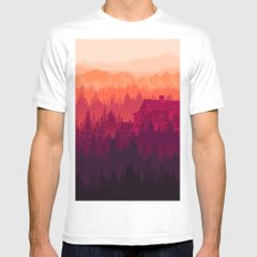 Cabin in the woods Mens Fitted Tee White MEDIUM