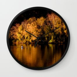 Reflections of the Fall Wall Clock
