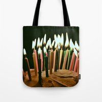 happy birthday Tote Bags featuring Happy Birthday by Thomas Eppolito