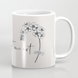 Forget Me Not Drawing Coffee Mug