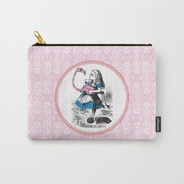 Alice in Wonderland | Alice playing Croquet with a Flamingo and Hedgehogs Carry-All Pouch