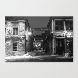 Rue des Artistes Canvas Print