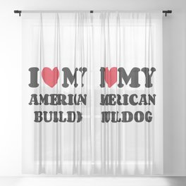 American Bulldog Sheer Curtain